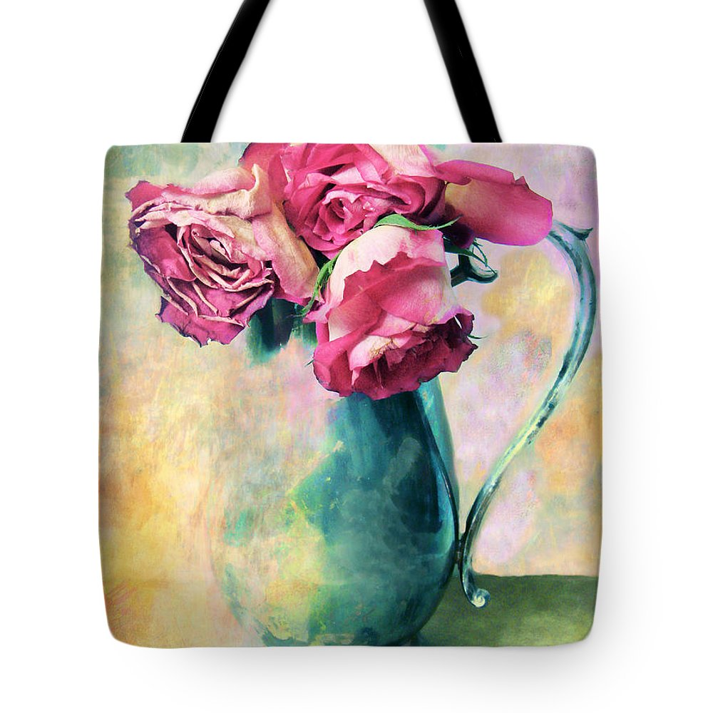 Flowers Tote Bag featuring the photograph Still Life Roses by Jessica Jenney