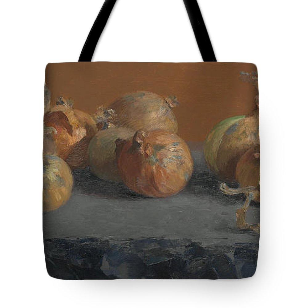 Vegetables Tote Bag featuring the painting Still Life With Onions by Ben Rikken