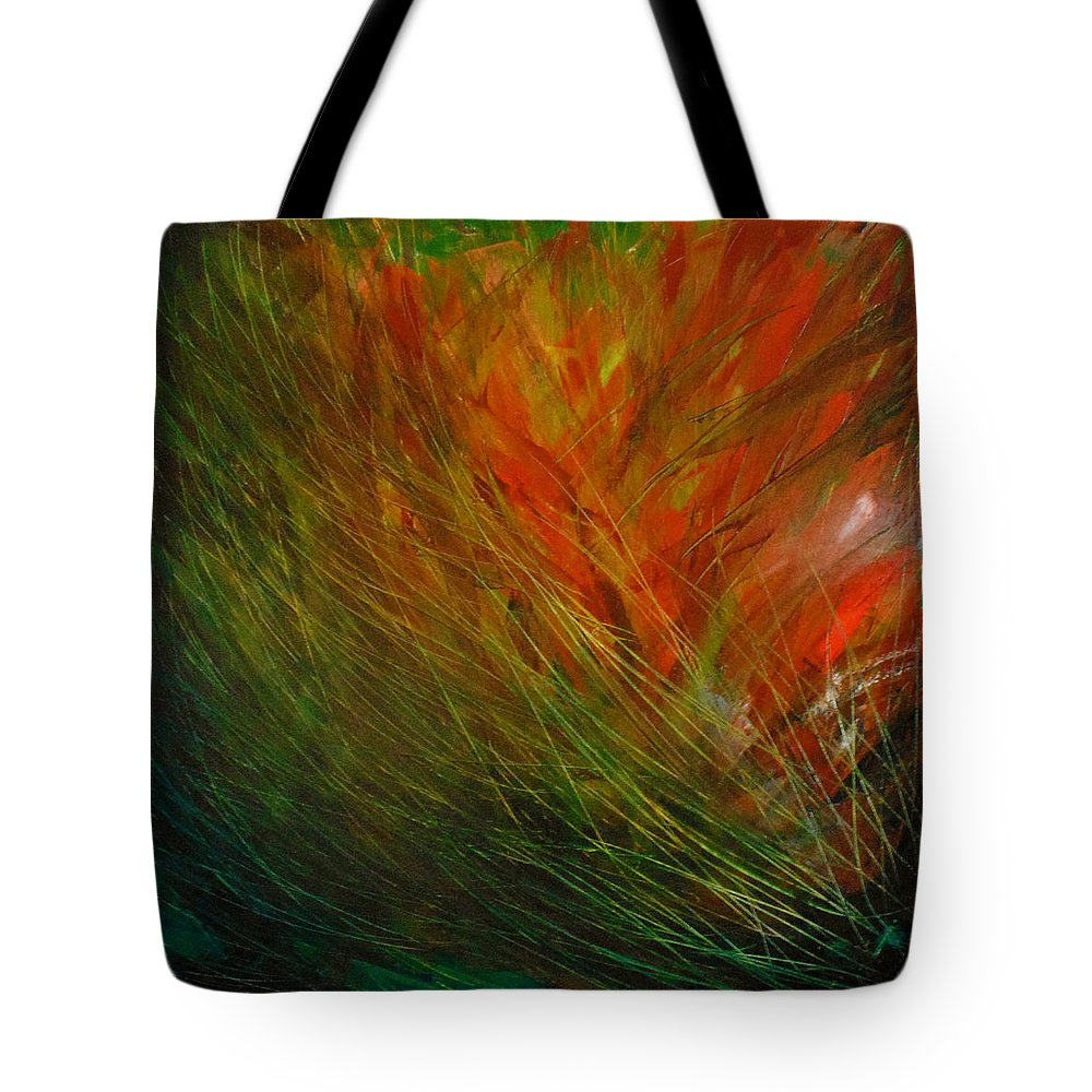 Almost Abstract Tote Bag featuring the painting Still Motion Left by Iouri Bairatchnyi