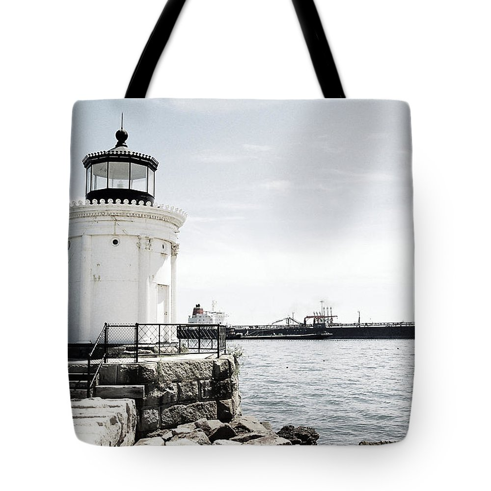 Lighthouse Tote Bag featuring the photograph Still Standing Guard by IMH Photog