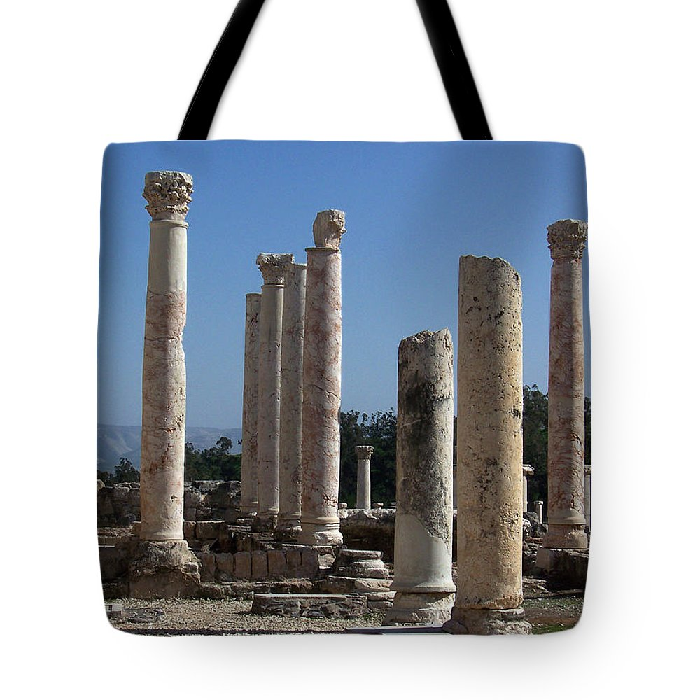 Israel Tote Bag featuring the photograph Still Standing by Kathy McClure