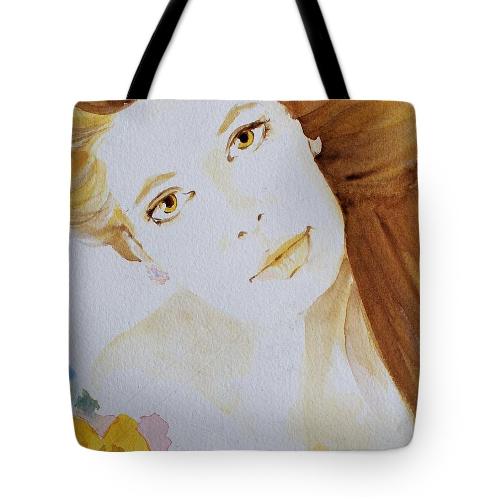 Watercolour Tote Bag featuring the painting Still Waters' Reflection by Janice Gell