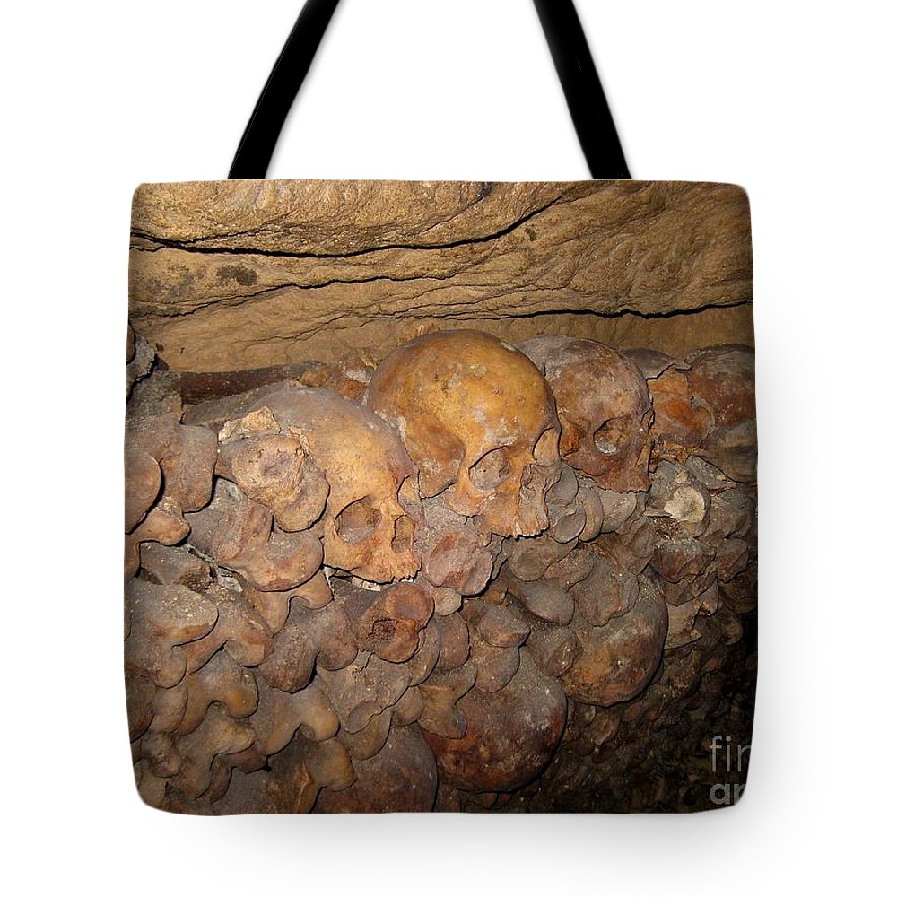 Skull Tote Bag featuring the photograph Still We Must Wait In Line by John Malone