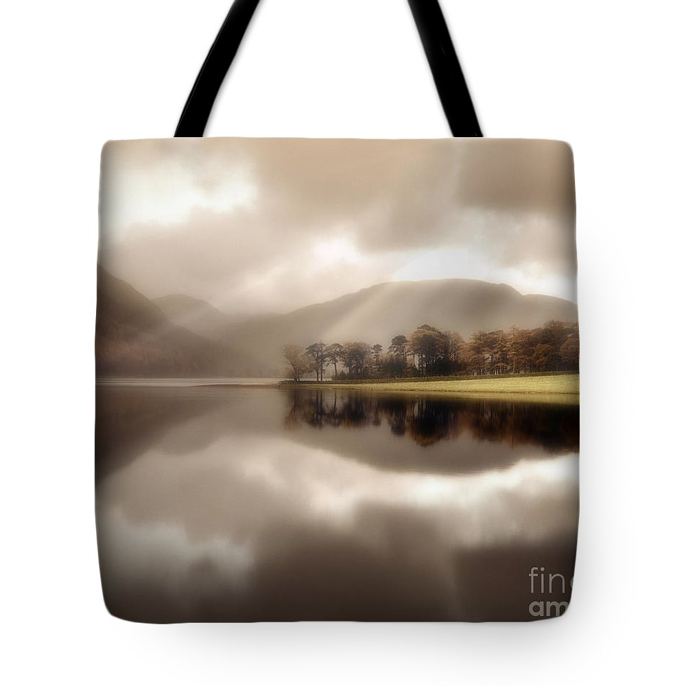 Great Britain Tote Bag featuring the photograph Stillness Of The Water by Edmund Nagele