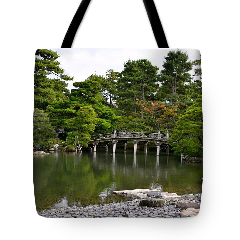 Bridge Tote Bag featuring the photograph Stone Bridge by Corinne Rhode