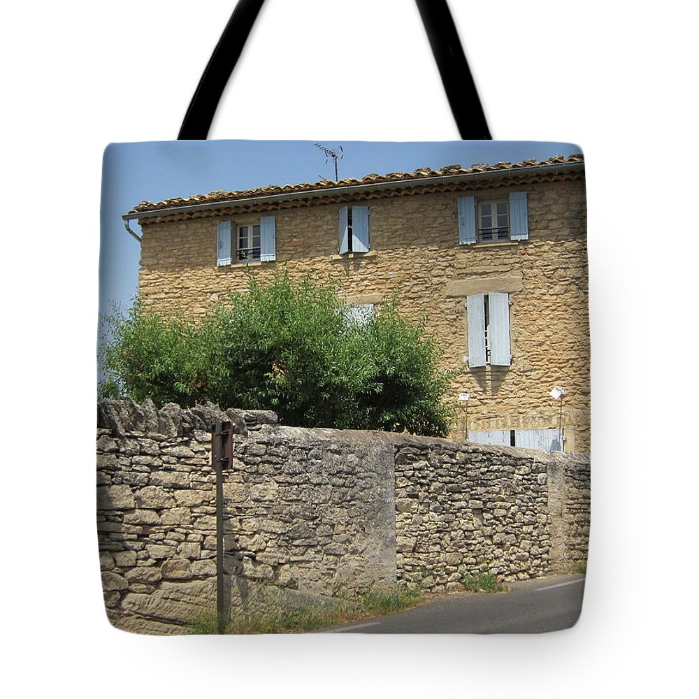 Stone Tote Bag featuring the photograph Stone House by Pema Hou