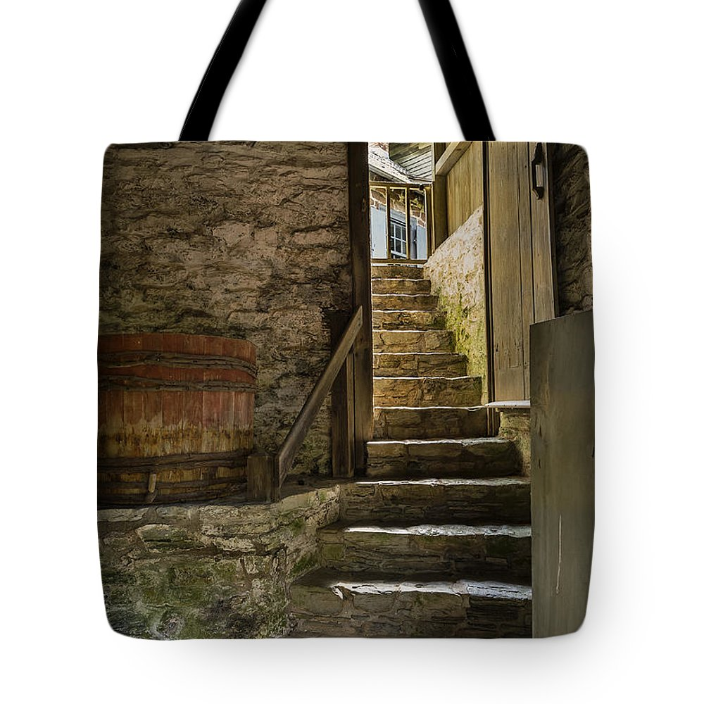 Learning Tote Bag featuring the photograph Stone Stairs by John Greim