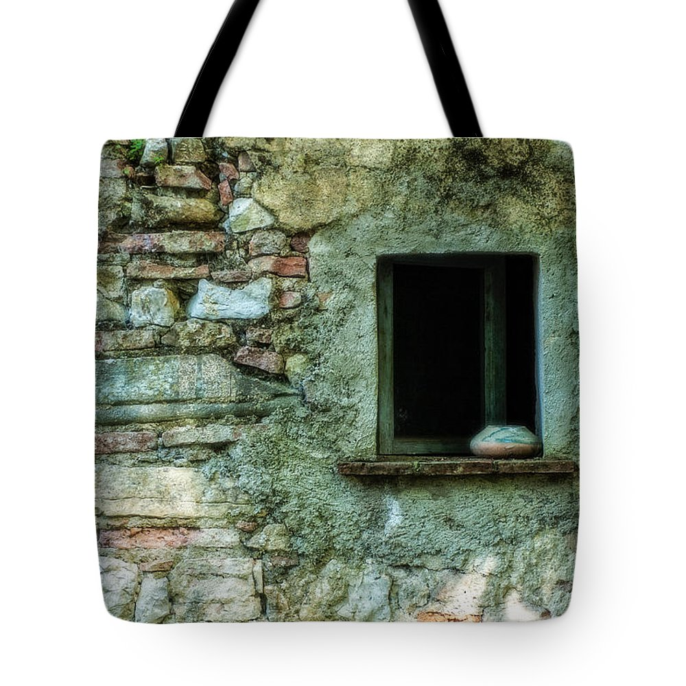 Italy Tote Bag featuring the photograph Stone Window by George Buxbaum