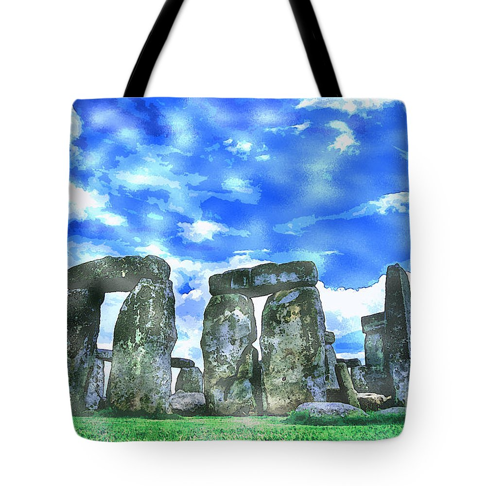 Stonehenge Tote Bag featuring the painting Stonehenge In The English County Of Wiltshire by Celestial Images