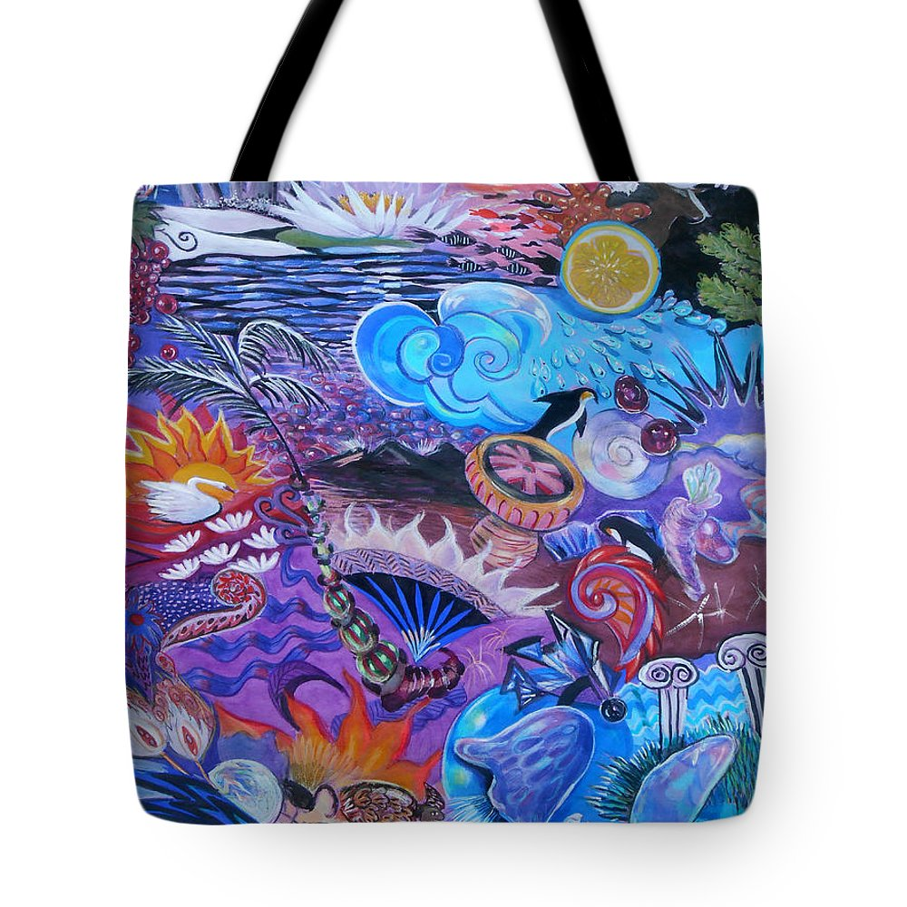 Stonehenge Tote Bag featuring the painting Stonehenge by Lucia Hoogervorst