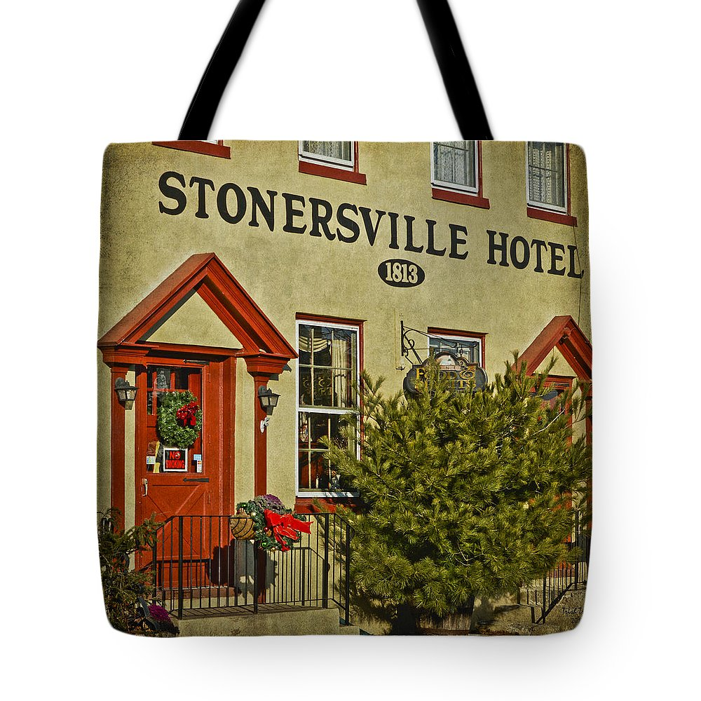 Stonersville Hotel Tote Bag featuring the photograph Stonersville Hotel by Trish Tritz