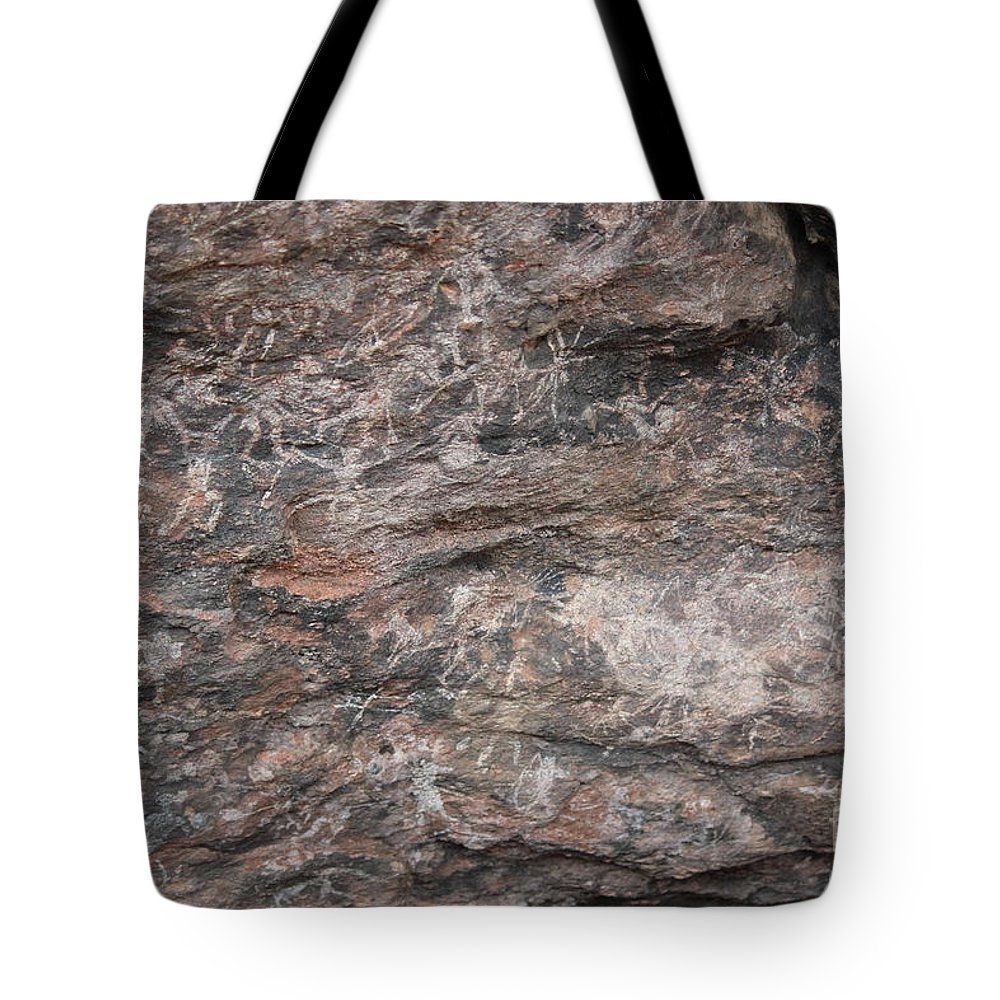 Nature Tote Bag featuring the photograph Stories In The Sandstone by Four Hands Art