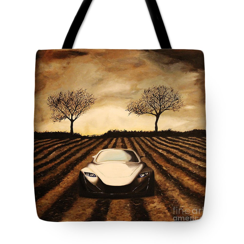Car Tote Bag featuring the painting Storm by Alisa Bogodarova