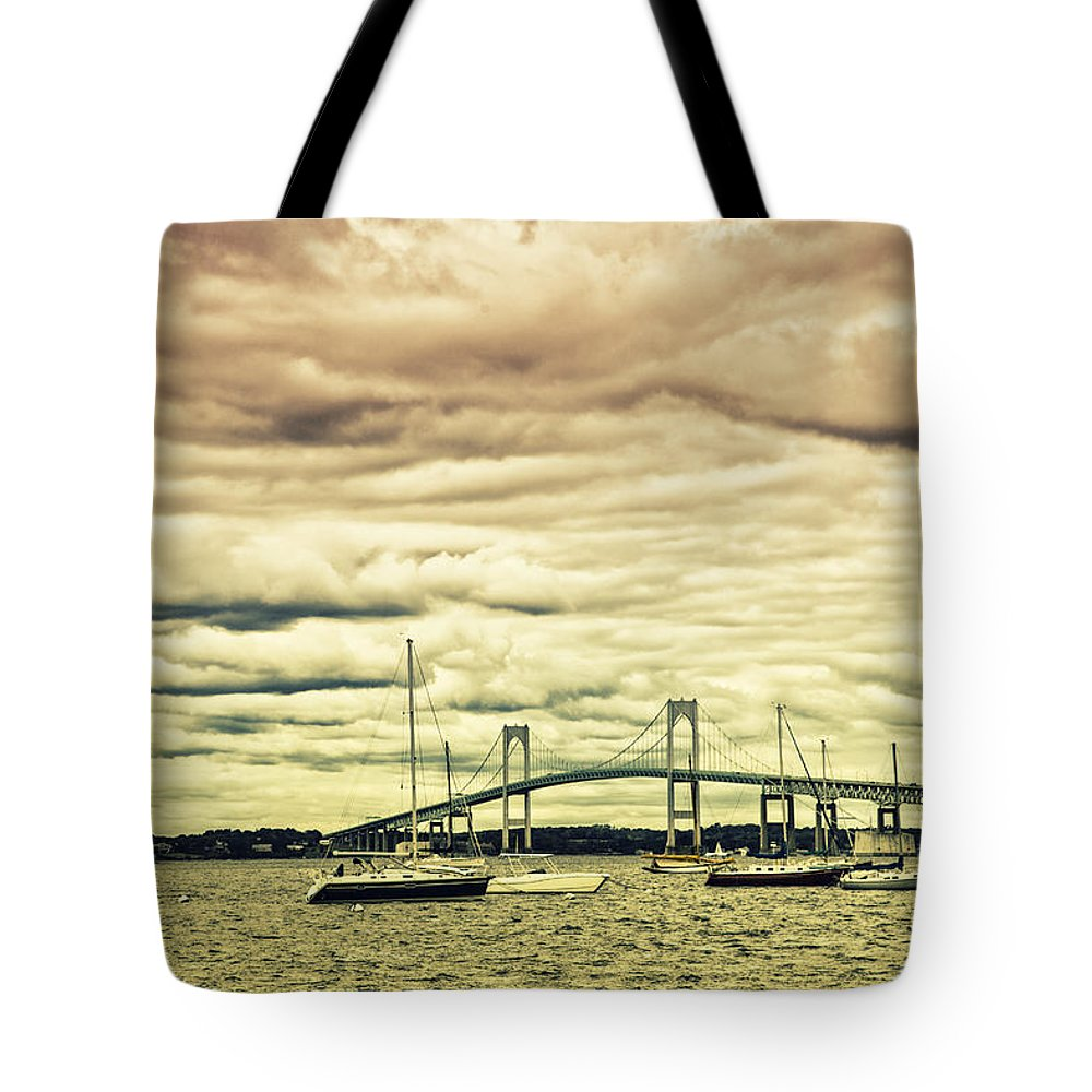 Coastal Tote Bag featuring the photograph Storm Brewing In Newport by Karol Livote