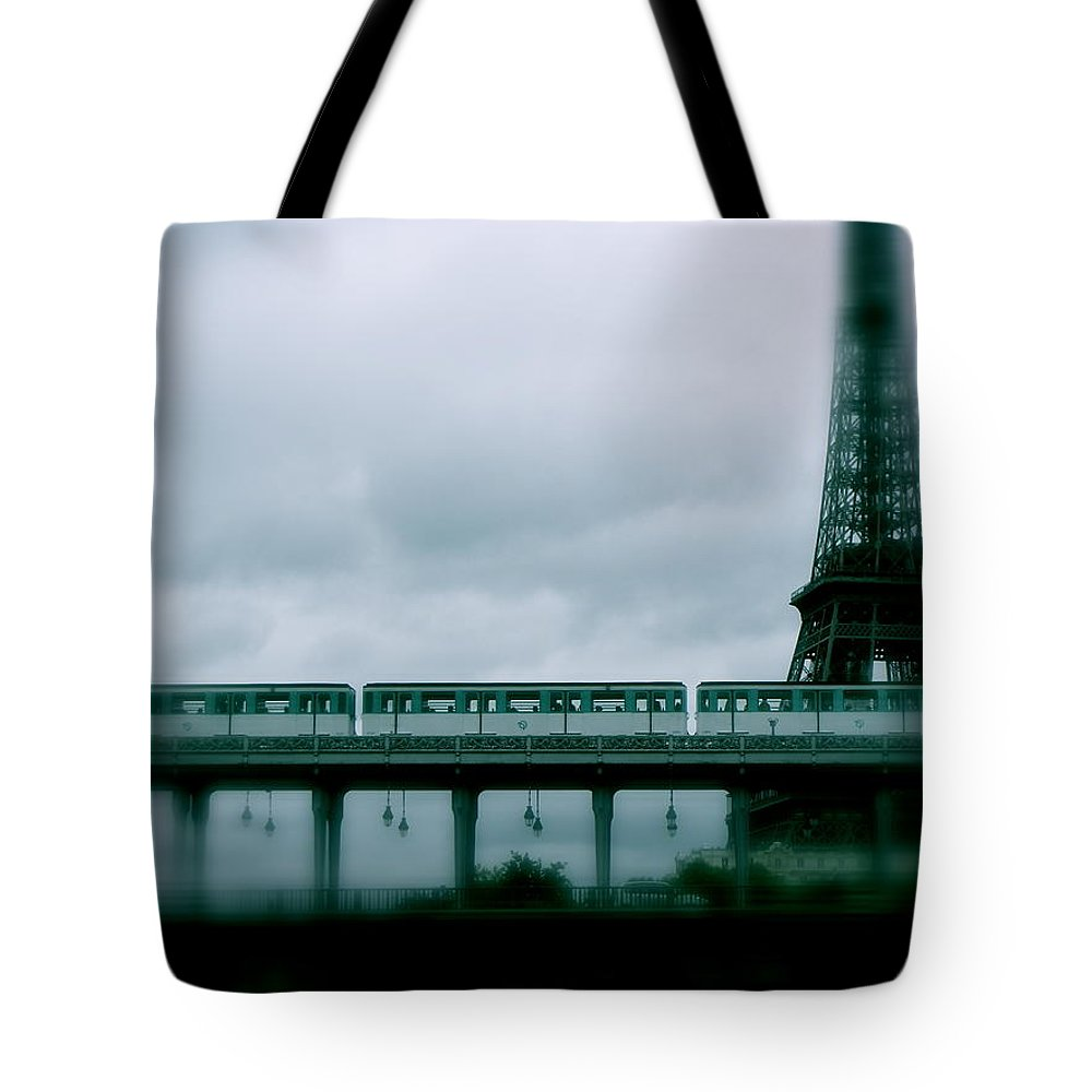 Paris Tote Bag featuring the photograph Storm Over Paris by Ira Shander