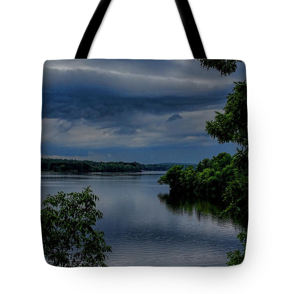 Dale Kauzlaric Tote Bag featuring the photograph Storm Rolling Over Lake Wausau by Dale Kauzlaric