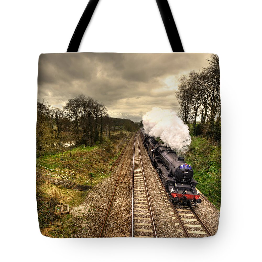 Whiteball Tote Bag featuring the photograph Stormin The Bank by Rob Hawkins