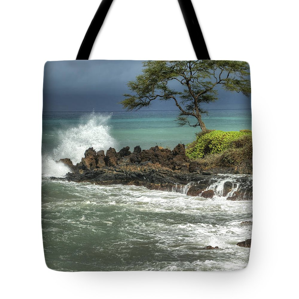 Waterscape Tote Bag featuring the photograph Stormy Maui Morning by Sandra Bronstein