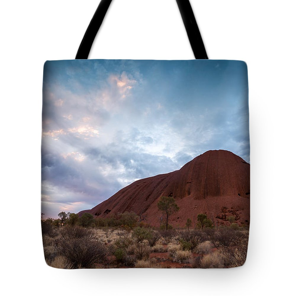 Uluru Tote Bag featuring the photograph Stormy Sky Over Uluru by Matteo Colombo
