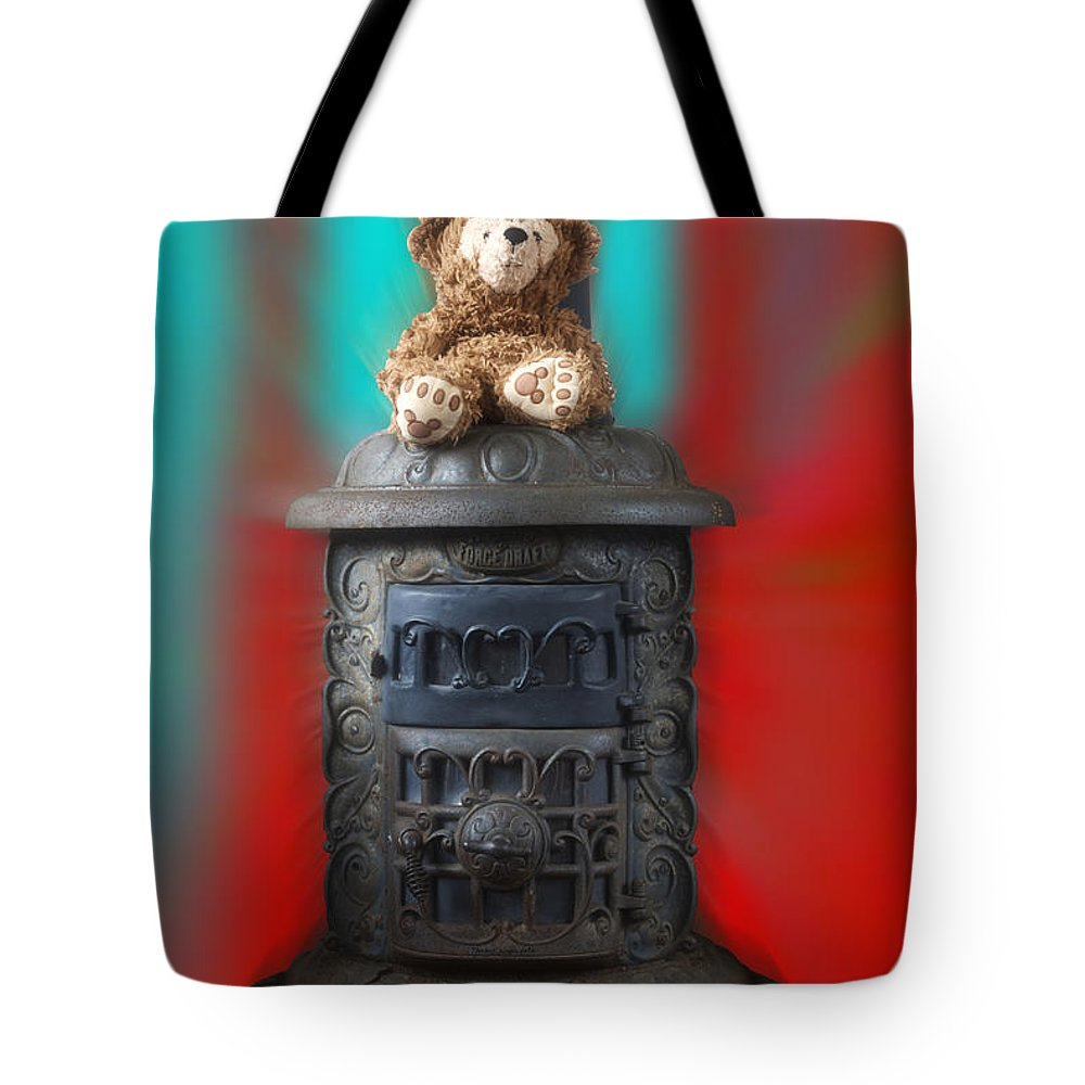 Fantasy Tote Bag featuring the photograph Stove Top Bear by Thomas Woolworth