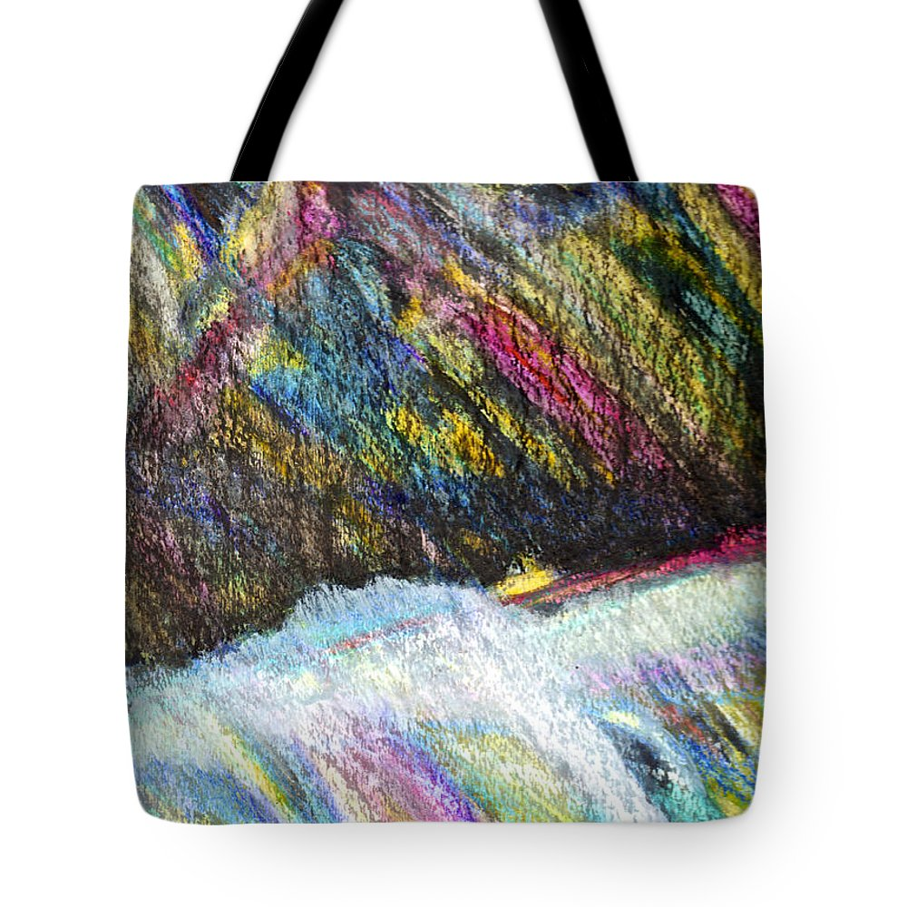 Abstract Painting Tote Bag featuring the painting Straits Of Dover by Joan Reese