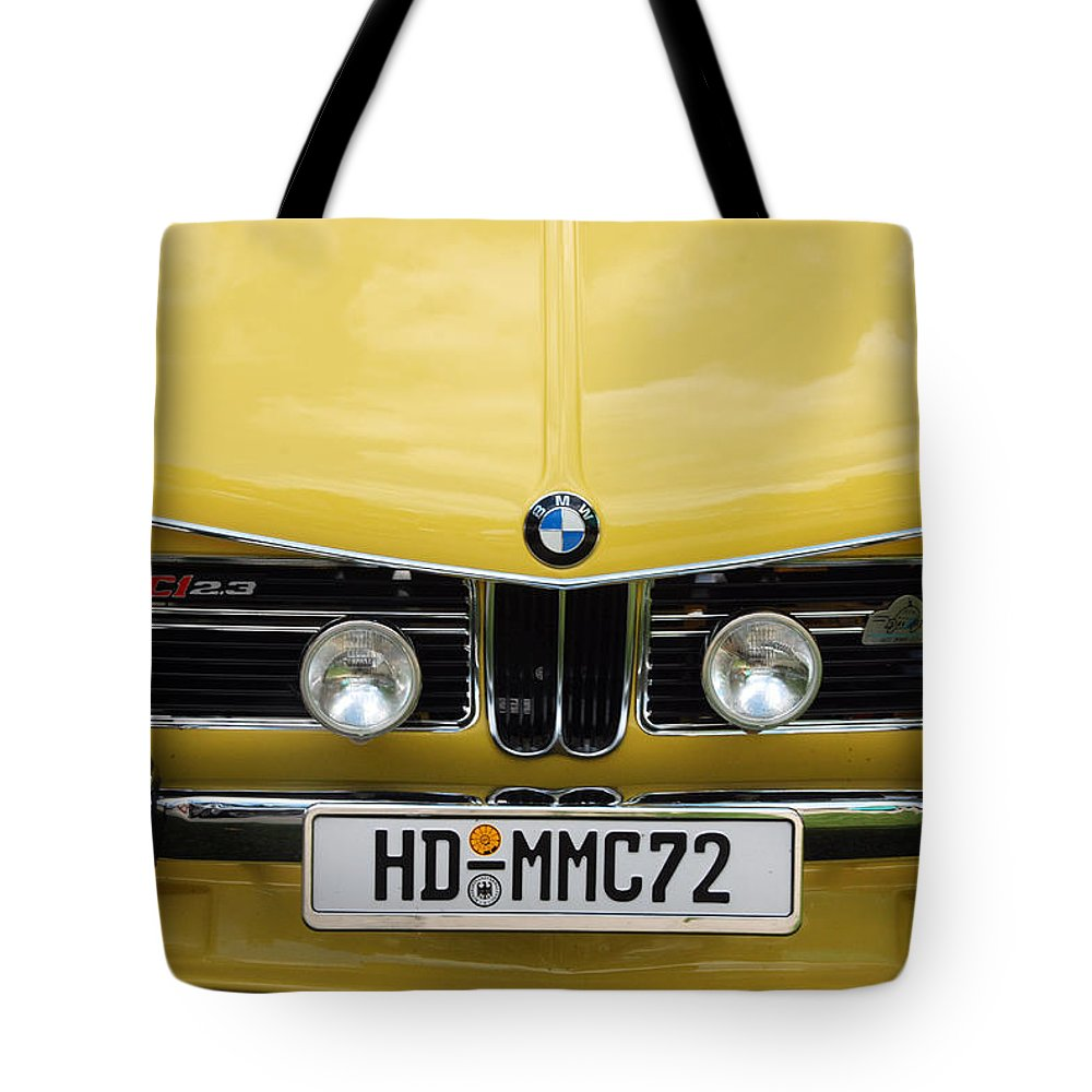 Automobiles Tote Bag featuring the photograph Strange Bavarian by John Schneider