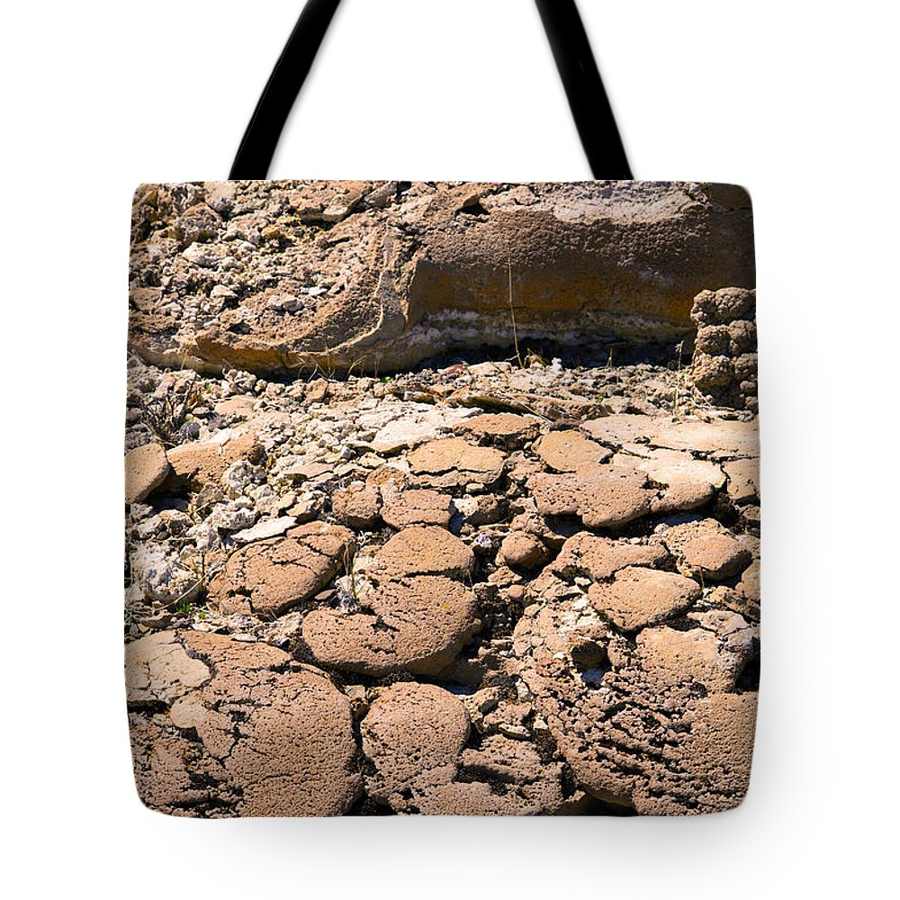 Crack Tote Bag featuring the photograph Strange Rock by Brent Dolliver