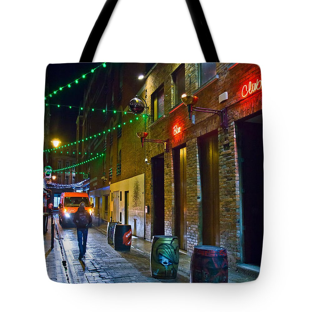Dublin Tote Bag featuring the photograph Stranger by Alex Art and Photo