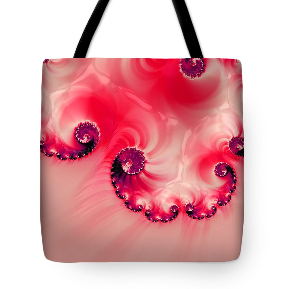 Background Tote Bag featuring the digital art Strawberries And Cream by Heidi Smith