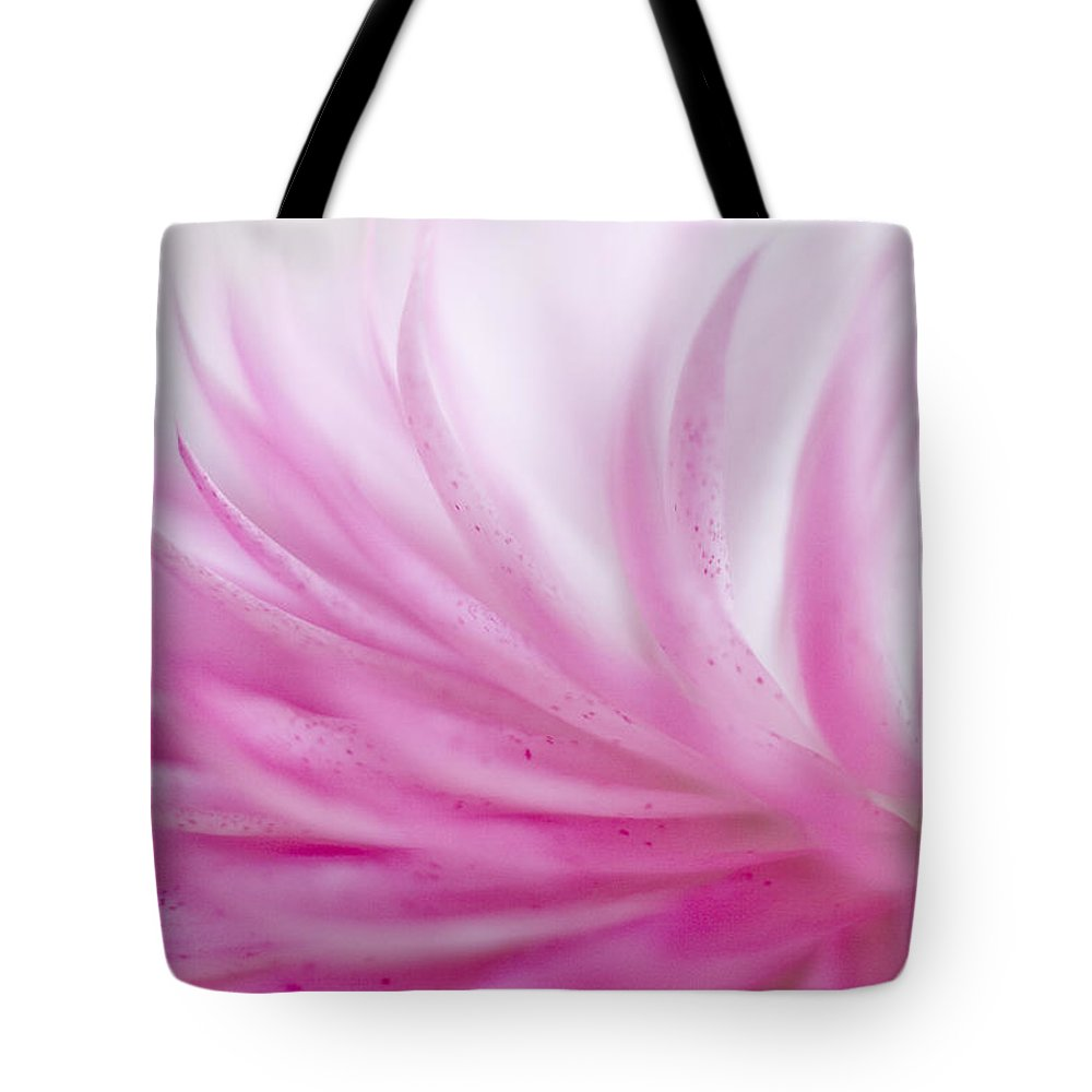 Abstract Tote Bag featuring the photograph Strawflower Impression #3 by David and Carol Kelly
