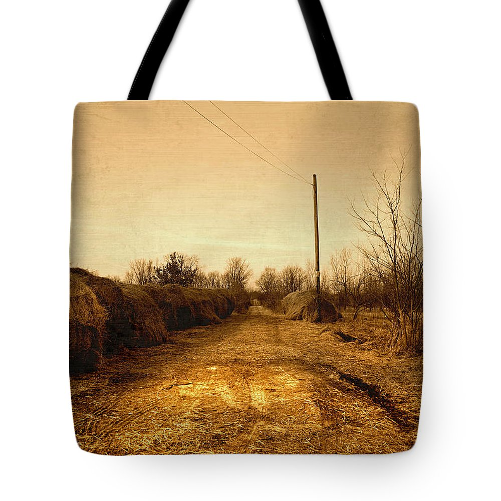 Road Tote Bag featuring the photograph Strawmill Road by Mark Orr