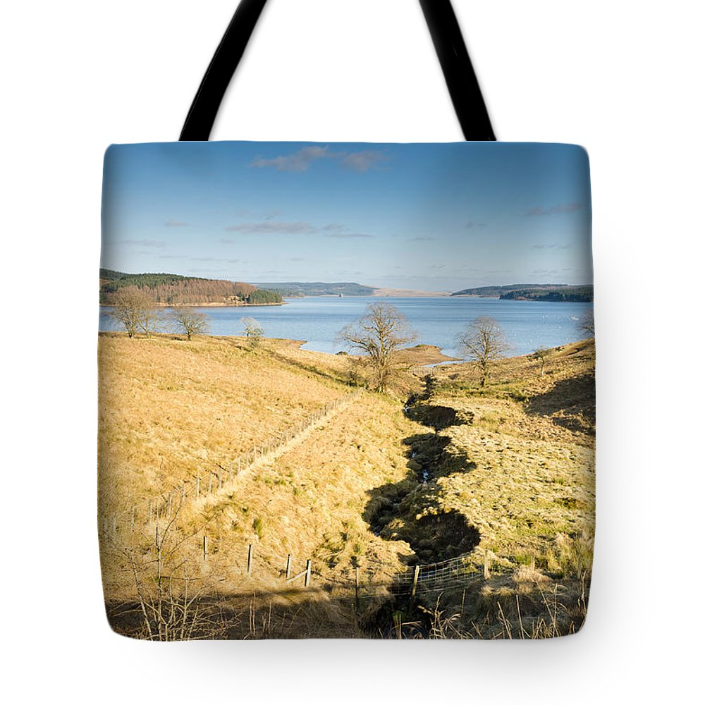Northumberland Tote Bag featuring the photograph Stream To Kielder Water by David Head