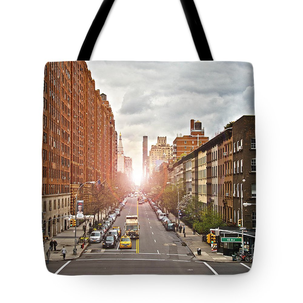 Apartments Tote Bag featuring the photograph Street As Seen From The High Line Park by Amy Cicconi