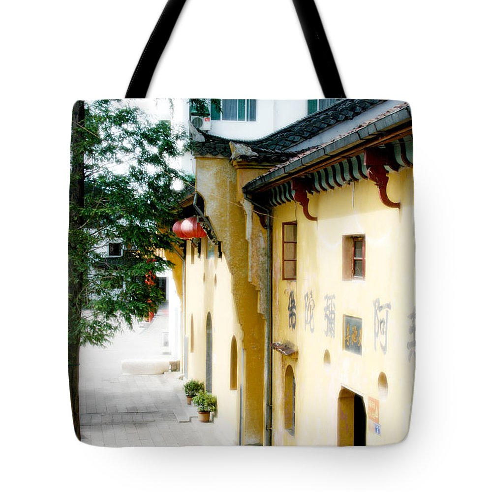 Anhui Province Tote Bag featuring the photograph Street In Anhui Province China by Tracy Winter
