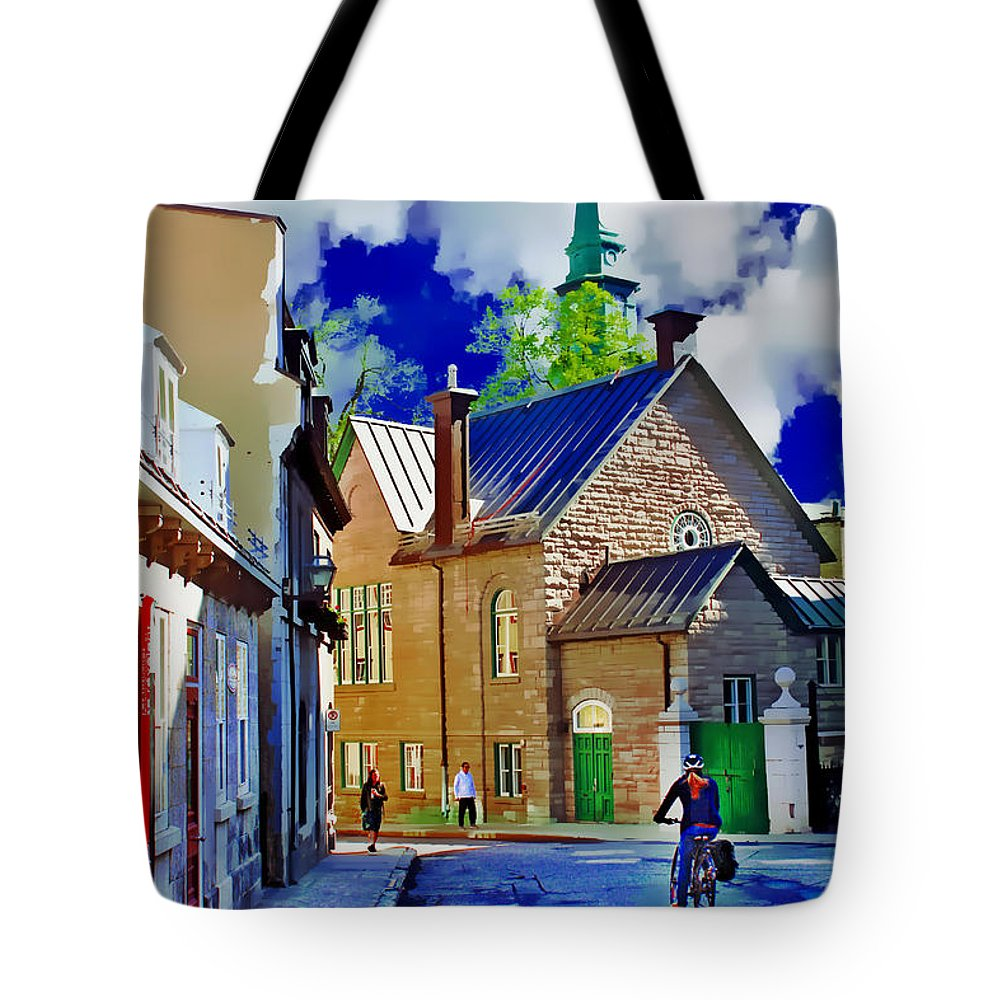 Bicycle Tote Bag featuring the photograph Street Life Series 01 by Carlos Diaz