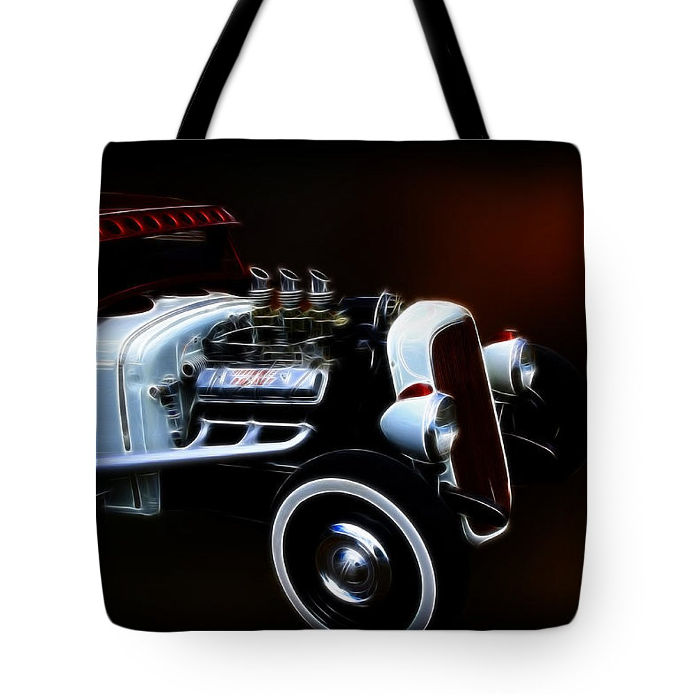 32 Ford Pickup Tote Bag featuring the photograph Street Rod by Steve McKinzie