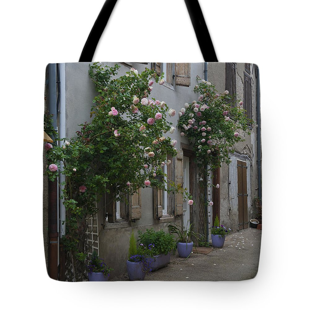 France Tote Bag featuring the photograph Street Scene Durfort France by Greg Kluempers