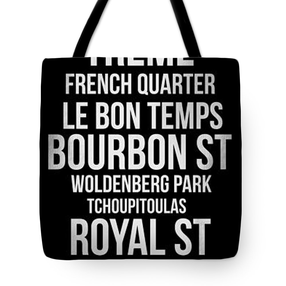 New Orleans Tote Bag featuring the digital art Streets Of New Orleans 2 by Naxart Studio