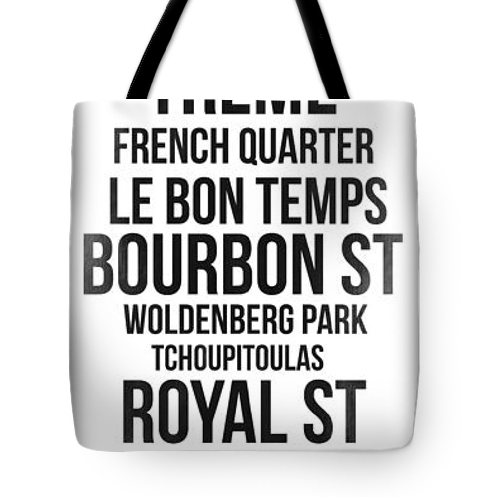 New Orleans Tote Bag featuring the digital art Streets Of New Orleans 3 by Naxart Studio