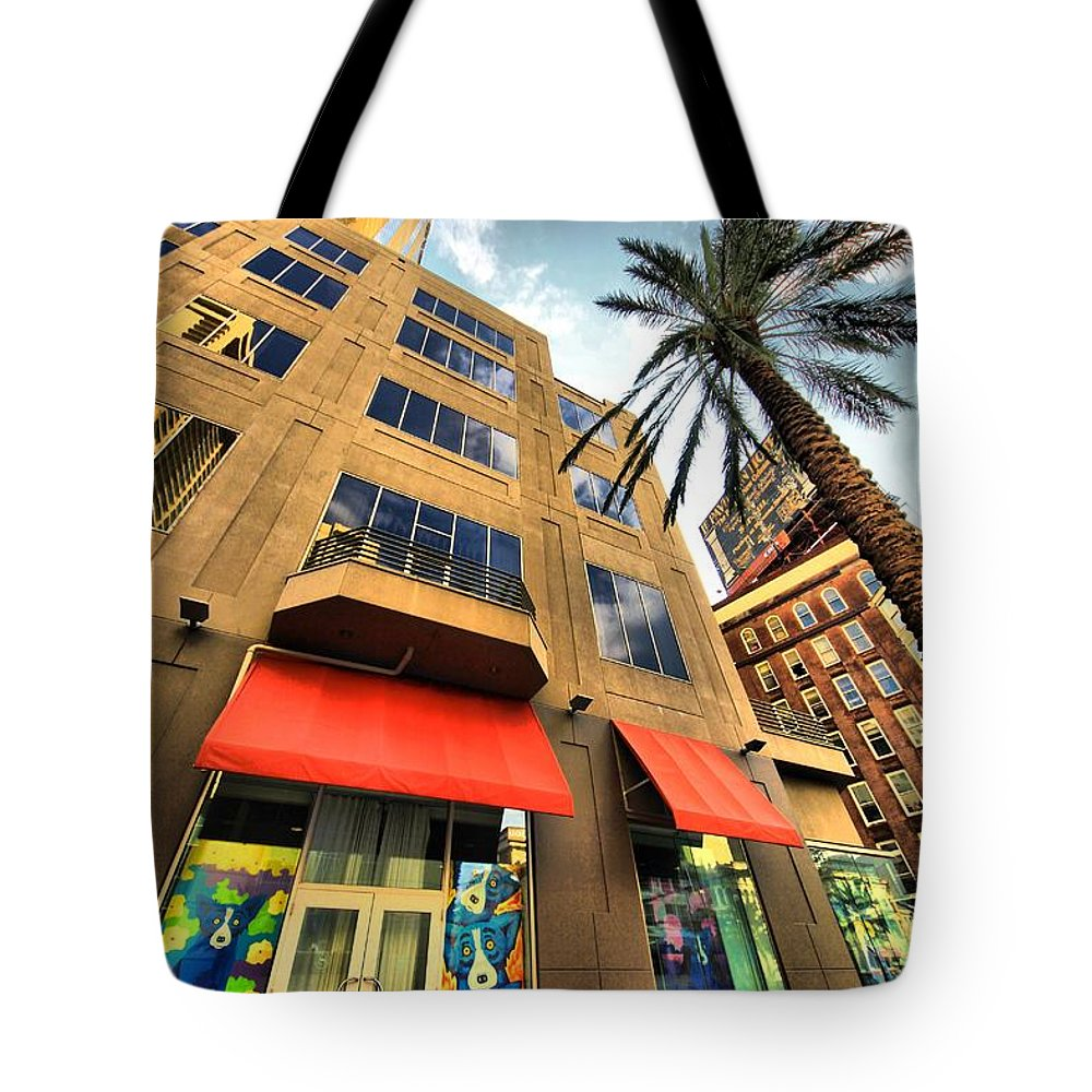 Cityscape Tote Bag featuring the photograph Streets Of Nola by Robert McCubbin