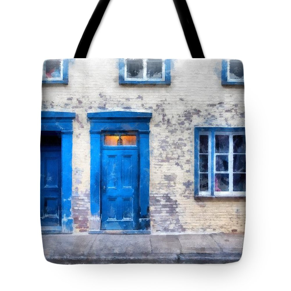 Quebec Tote Bag featuring the photograph Streets Of Old Quebec 2 by Edward Fielding