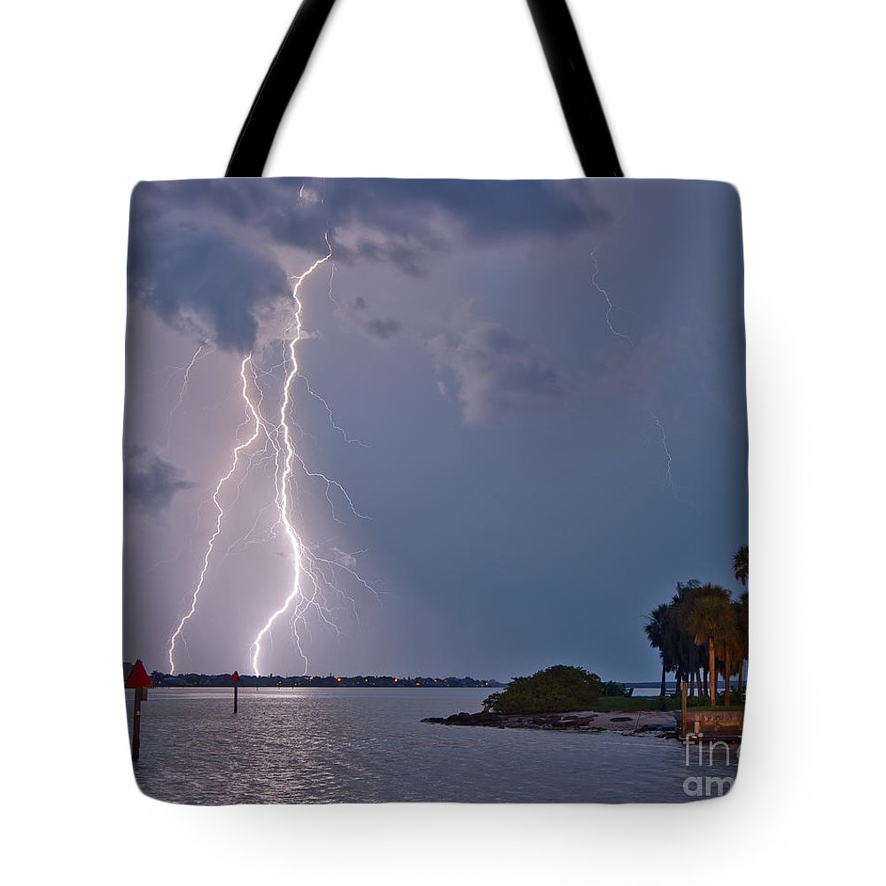 Florida Tote Bag featuring the photograph Strikes by Stephen Whalen
