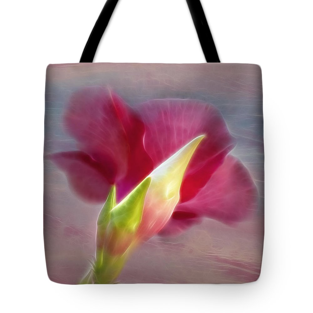 Hibiscus Tote Bag featuring the photograph Striking Hibiscus Flower by Sharon M Connolly