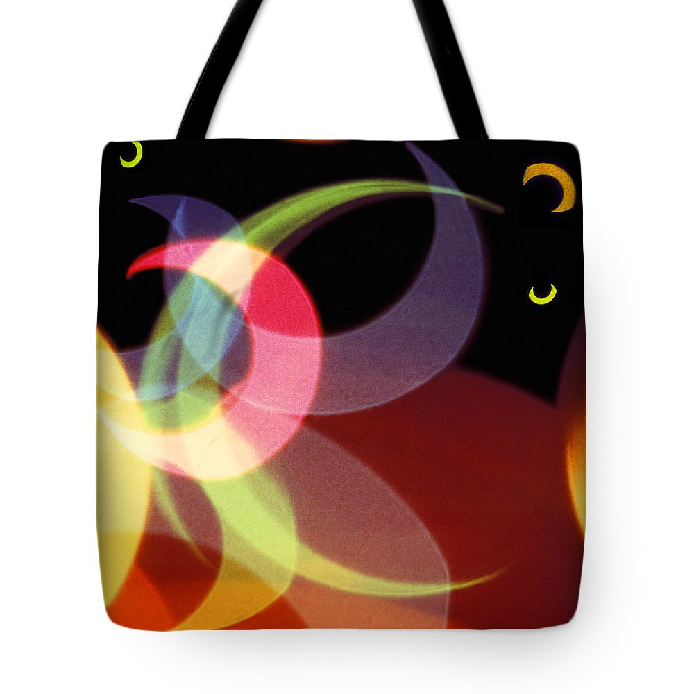 Abstract Tote Bag featuring the photograph String Of Lights 1 by Mike McGlothlen