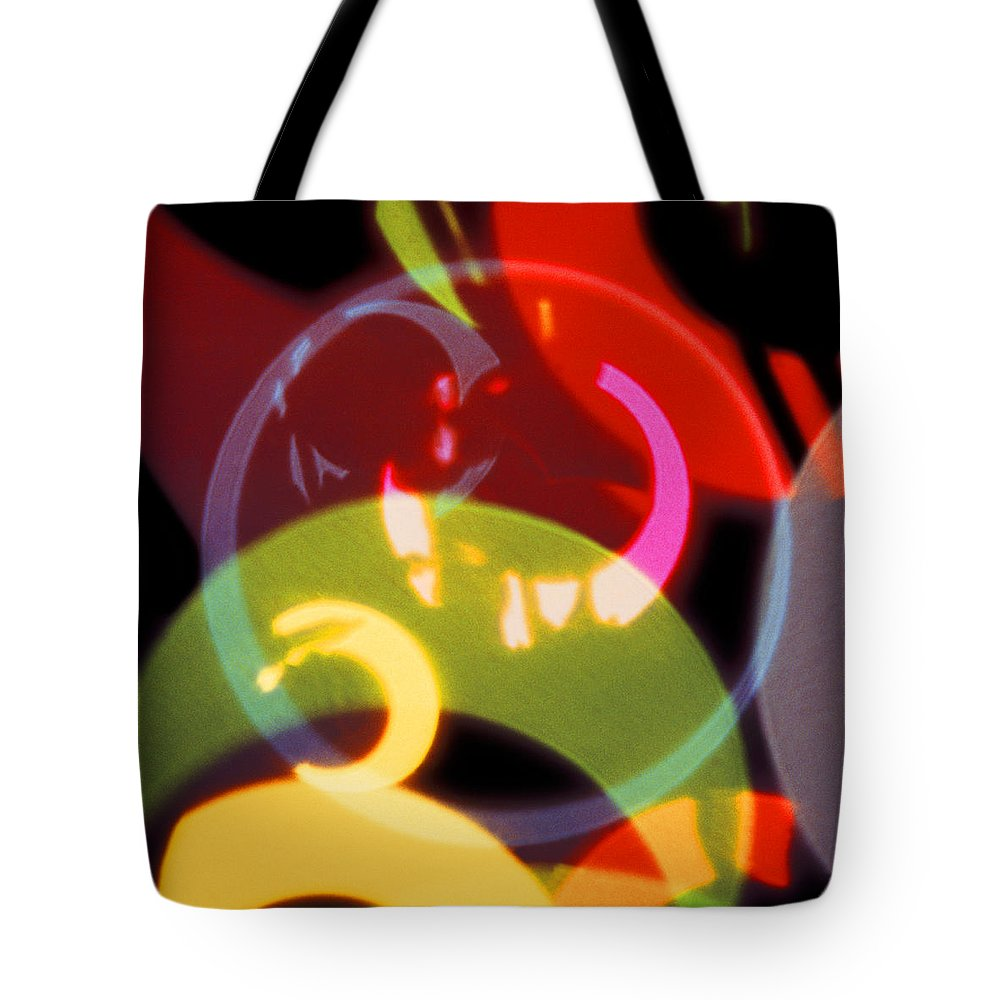 Red & Green Tote Bag featuring the photograph String Of Lights 2 by Mike McGlothlen