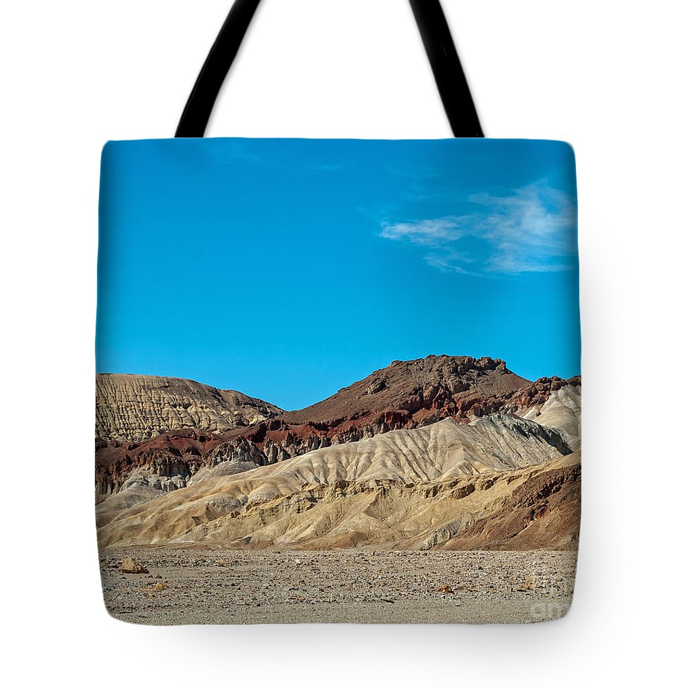 Stripes Tote Bag featuring the photograph Striped Mountain by Stephen Whalen