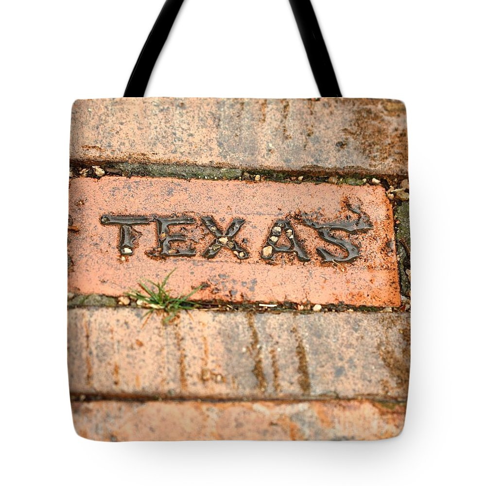Brick Tote Bag featuring the photograph Stroll Down Texas Lane by Terry Fleckney