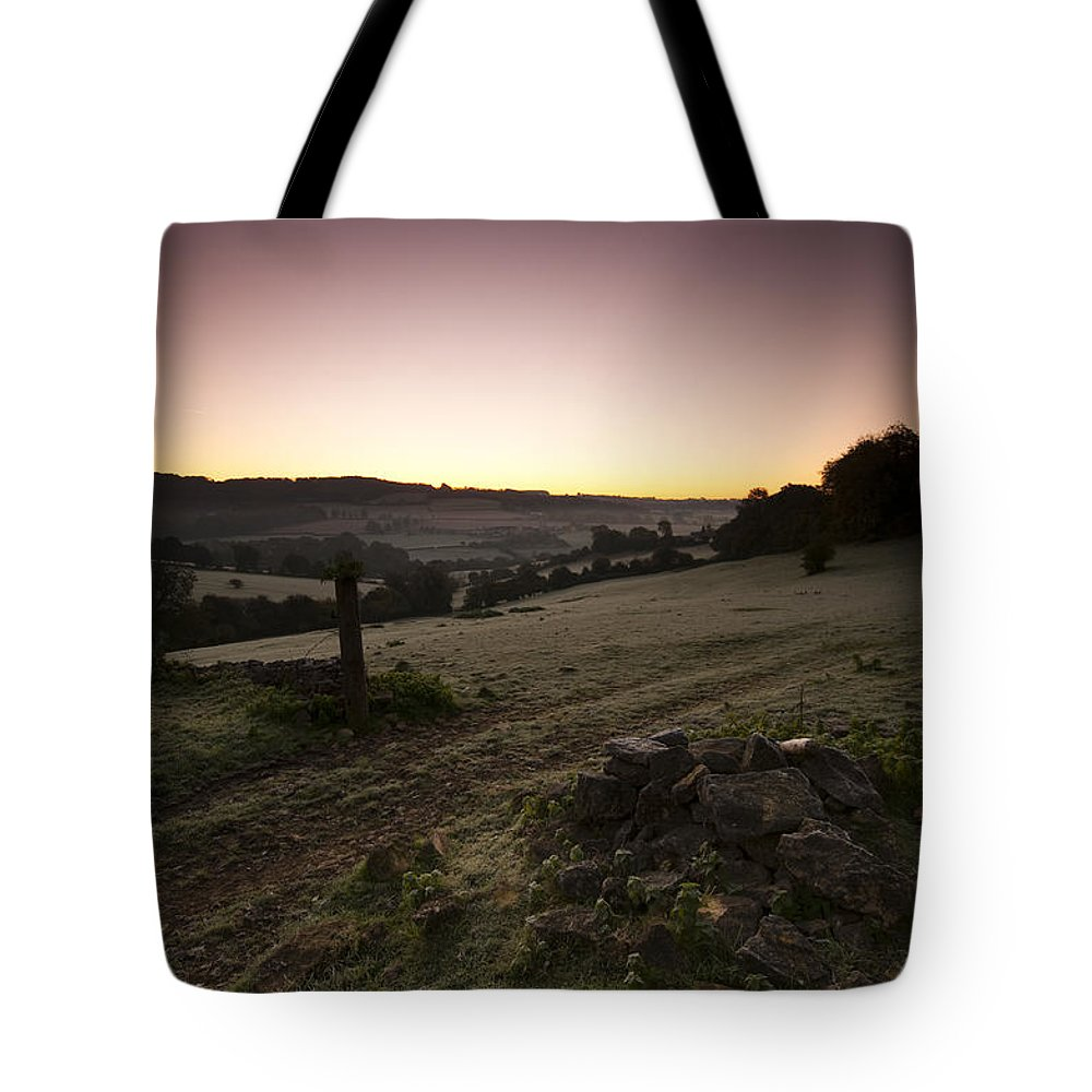 Autumn Tote Bag featuring the photograph Stroud Sunrise by Anne Gilbert
