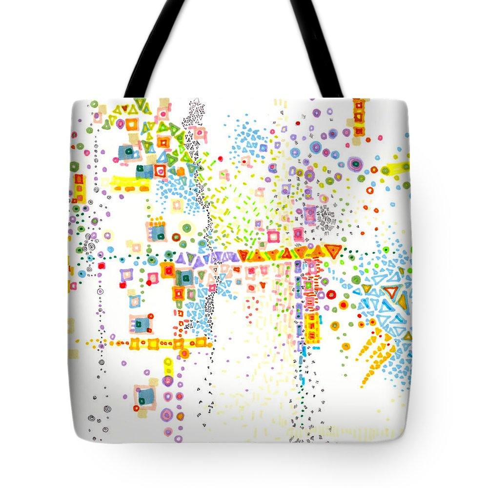 City Tote Bag featuring the painting Structure Evolution by Regina Valluzzi