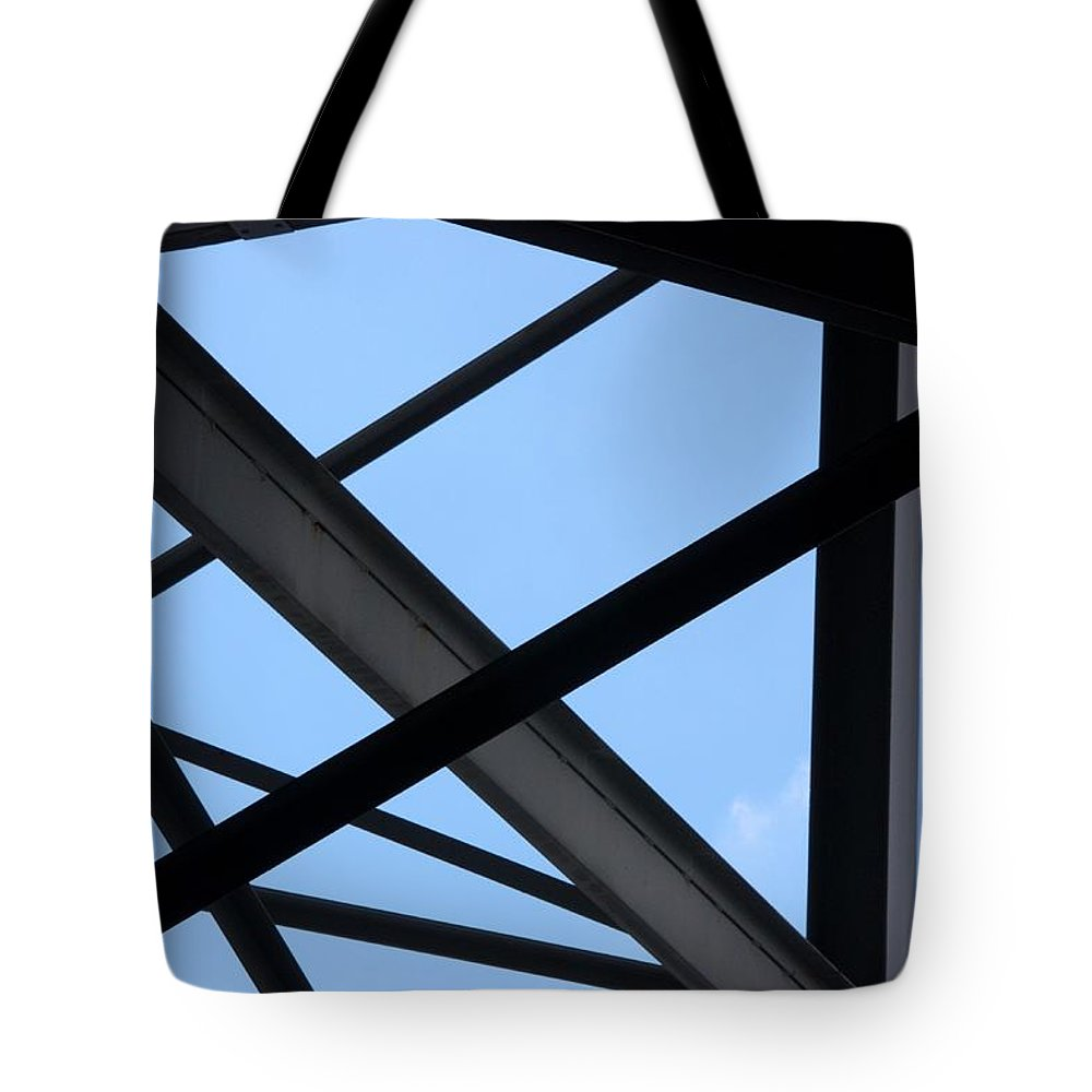 Beams Tote Bag featuring the photograph Structure by Joe Kozlowski